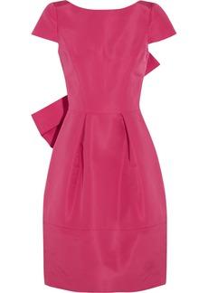 Oscar de la Renta Bow-embellished silk-faille dress