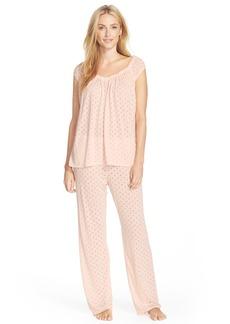 Oscar de la Renta Burnout Dot Pajamas