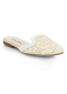 Oscar de la Renta Calista Embroidered Slides