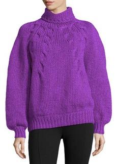 Oscar de la Renta Cashmere Chunky Hand-Knit Sweater