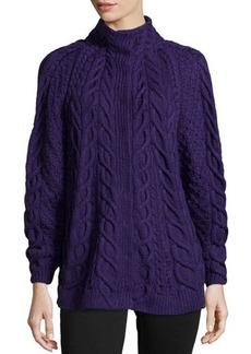 Oscar de la Renta Cashmere Hand-Knit Sweater