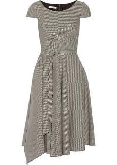Oscar de la Renta Checked wool-blend dress