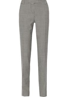Oscar de la Renta Checked wool straight-leg pants