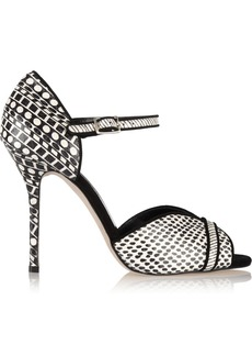 Oscar de la Renta Christina printed elaphe pumps