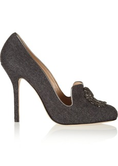 Oscar de la Renta Ciciliapla tasseled tweed pumps