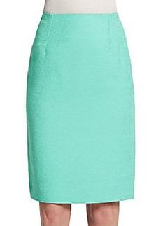 Oscar de la Renta Cotton-Blend Pencil Skirt