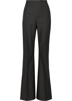 Oscar de la Renta Cotton, wool and cashmere-blend wide-leg pants