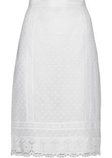 Oscar de la Renta Crochet-lace skirt
