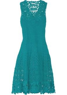 Oscar de la Renta Crocheted cotton dress