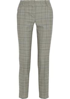Oscar de la Renta Cropped houndstooth wool-blend pants