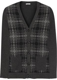 Oscar de la Renta Cutout wool and cashmere cardigan