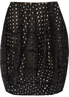 Oscar de la Renta Cutout wool-felt bubble mini skirt