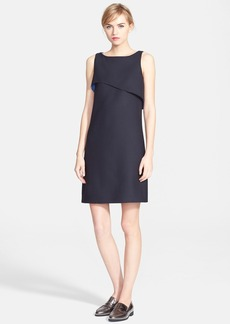 Oscar de la Renta Double Face Stretch Wool Shift Dress