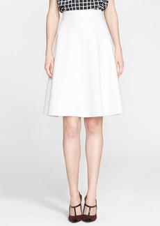 Oscar de la Renta Double Face Wool Blend Skirt