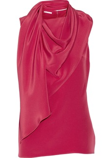 Oscar de la Renta Draped silk-jersey top