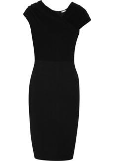 Oscar de la Renta Draped stretch-knit dress