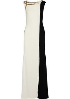 Oscar de la Renta Embellished cady gown