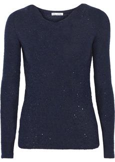 Oscar de la Renta Embellished cashmere-blend sweater