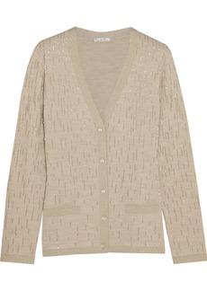 Oscar de la Renta Embellished wool-blend cardigan