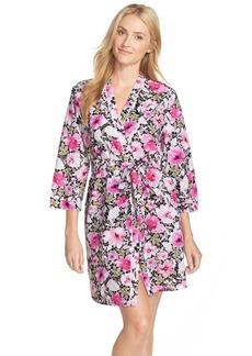 Oscar de la Renta Floral Print Robe