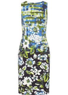 Oscar de la Renta Floral-print stretch-cotton dress