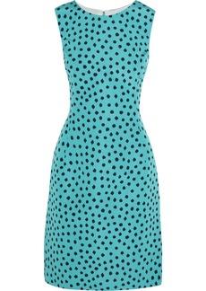 Oscar de la Renta for THE OUTNET Polka-dot silk-twill dress