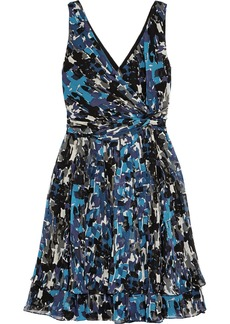 Oscar de la Renta for THE OUTNET Printed silk-chiffon dress