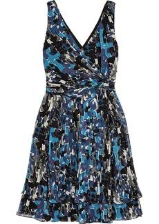 Oscar de la Renta for THE OUTNET Printed silk-chiffon dress