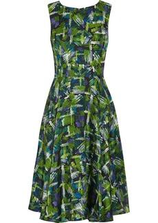Oscar de la Renta for THE OUTNET Printed silk-satin dress