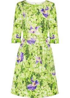 Oscar de la Renta for THE OUTNET Printed silk-twill dress
