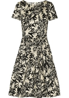 Oscar de la Renta for THE OUTNET Printed stretch-cotton mini dress