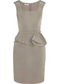Oscar de la Renta for THE OUTNET Silk satin-faille peplum dress