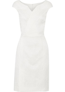 Oscar de la Renta for THE OUTNET Textured stretch-cotton and silk-blend dress