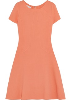 Oscar de la Renta for THE OUTNET Wool-crepe dress