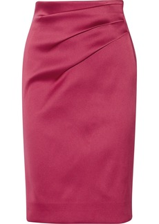 Oscar de la Renta Gathered sateen skirt