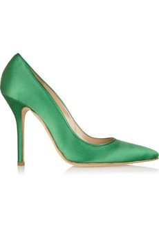 Oscar de la Renta Grace satin pumps