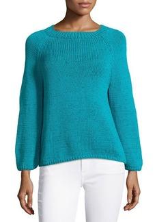 Oscar de la Renta Hand-Knit Long-Sleeve Sweater
