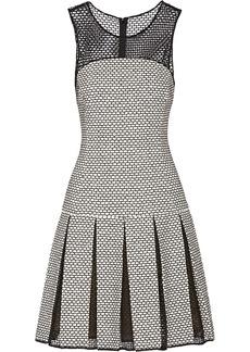 Oscar de la Renta Honeycomb-knit cotton-blend tweed dress