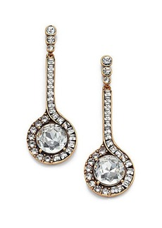 Oscar de la Renta Jeweled Pendant Drop Earrings