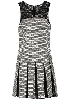 Oscar de la Renta Knitted cotton-blend dress