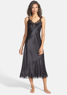 Oscar de la Renta 'Lace Refinement' Satin Nightgown