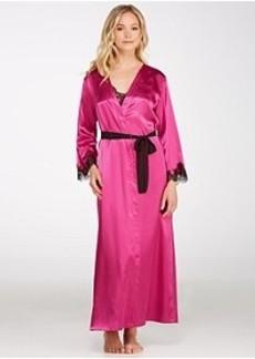 Oscar de la Renta Lace Refinement Satin Robe