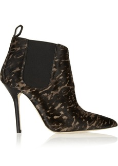 Oscar de la Renta Michiga printed calf hair ankle boots