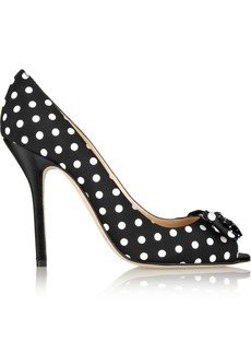 Oscar de la Renta Nicbow polka-dot canvas pumps
