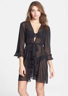 Oscar de la Renta 'Night & Day' Sheer Georgette Robe