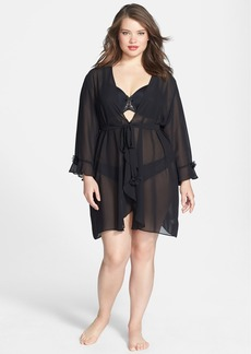 Oscar de la Renta 'Night & Day' Sheer Georgette Robe (Plus Size)