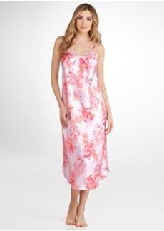Oscar de la Renta Night Blooms Satin Gown
