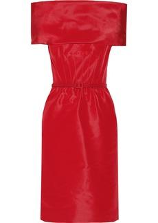 Oscar de la Renta Off-the-shoulder silk-faille dress