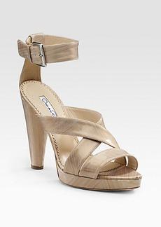 Oscar de la Renta Patent Sandals