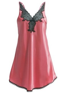 Oscar de la Renta Pink Label A Hint of Romance Chemise - Satin, Spaghetti Strap (For Women)